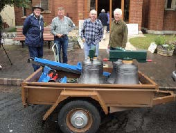 Three Katoomba bells on trailer