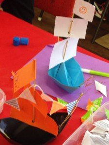 Some great ships made by the kids.