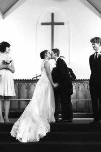 You may kiss the bride - at St Hilda's